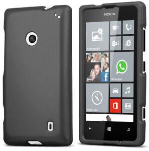 DARK-GRAY-PROTEX-RUBBERIZED-HARD-SHELL-CASE-COVER-FOR-NOKIA-LUMIA-520-PHONE