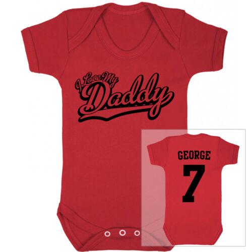 I Love My Daddy Fußball Personalisiert Baby Body