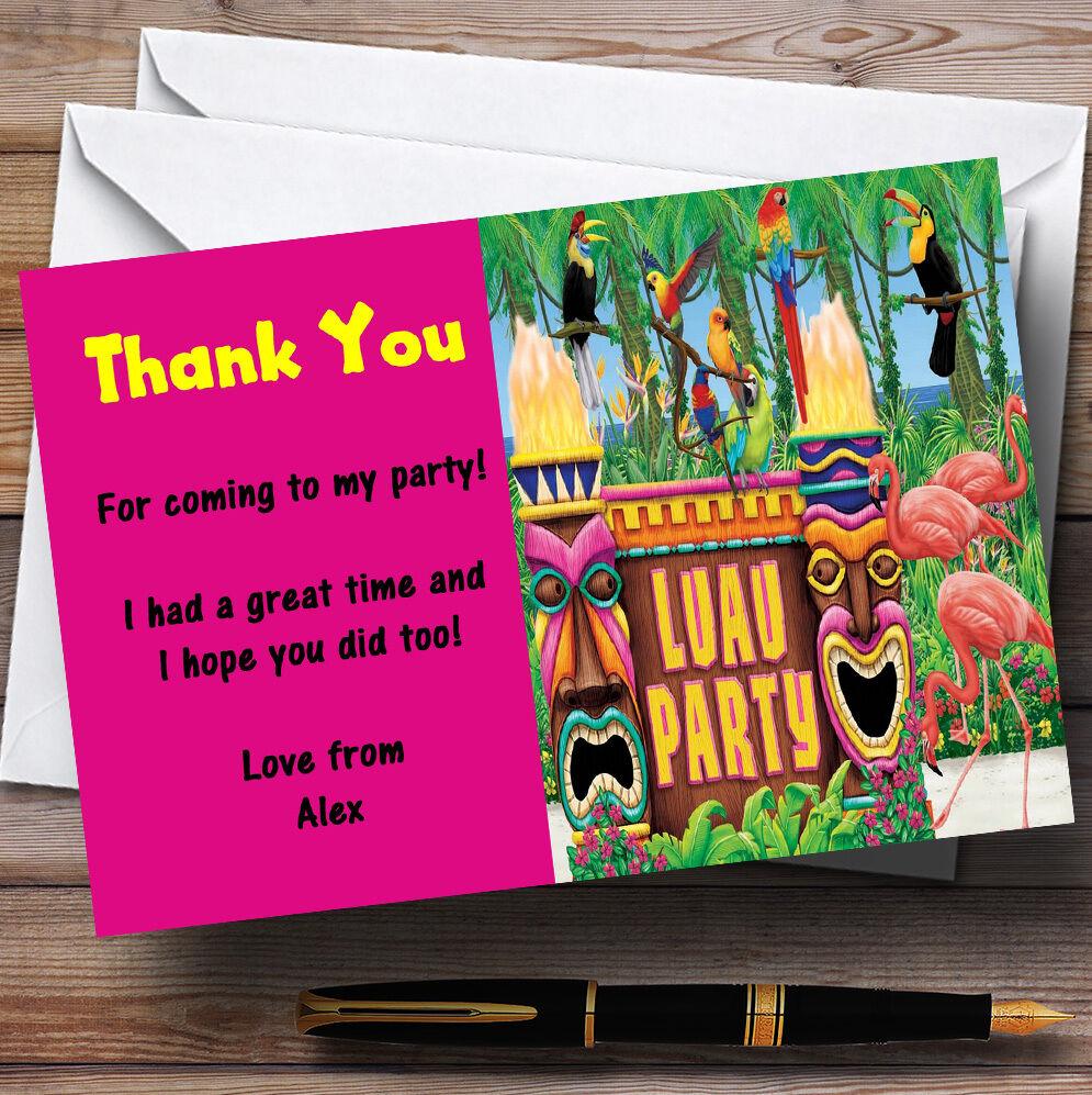 Hawaïen Luau personnalisés Tropical Rose Parti personnalisés Luau vous remercier cartes 0b6030