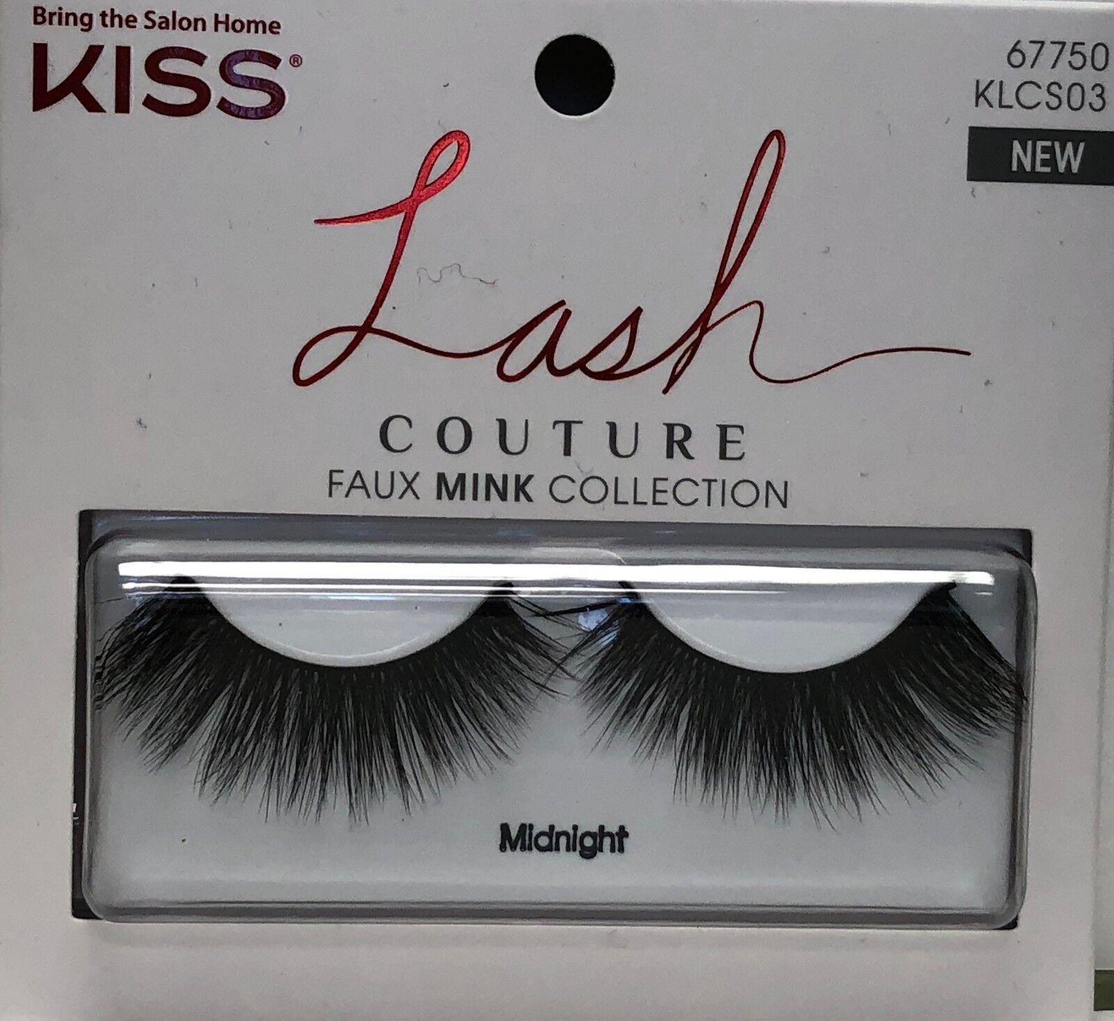 15434edda33 Kiss Lash Couture Faux Mink Midnight Bonus Glue 67750 for sale online | eBay