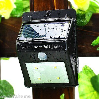 Solar Light PIR Sensor Light Control 6 SMD 2835 LEDs Water Resistant Garden Lamp