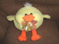 """Easter Chick Stuffed Plush Yellow Fat Chicken Cute Butter Ball Bean Bag 7""""x9"""""""