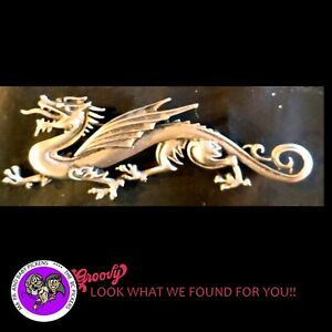 034-JJ-034-Jonette-Jewelry-Silver-Pewter-039-Dragon-Lying-Long-and-Low-039-Pin-Free-Shipping