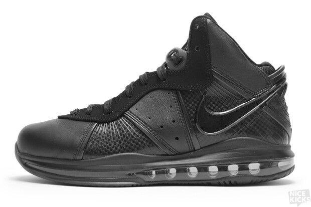 Nike LeBron 8 VIII Triple Black Anthracite Size 11. 417098-001
