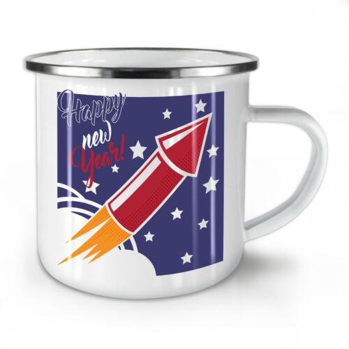 Happy Firework New Year NEW Enamel Tea Mug 10 ozWellcoda
