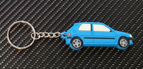 Peugeot 106 Gti S16 Autoschlüssel Ring Blau