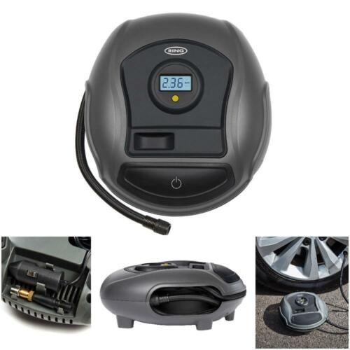 Ring RTC300 12v Plug Digital Gauge Car Tyre Air Compressor Inflator Pump