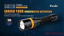 Fenix SD20 LED Taucherlampe Taschenlampe Diving Light Flashlight 1000 Lumen