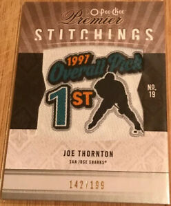 2009-10-OPC-Premier-Stitchings-Joe-Thornton-PS-JT-Numbered-142-199