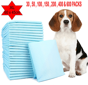DOG PUPPY EXTRA LARGE formazione PADS PAD Wee Wee Pavimento Tappetini Da Bagno 60 x 45cm 200