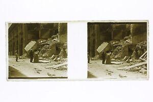 Italia-Messina-Terremoto-1908-Foto-Placca-P45L5n5-Lente-Positivo-Stereo