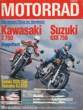 Motorrad 10 80 FX Wide Glide Kawasaki Z 750 Puch 6 GTL Cobra Yamaha XS 650 1980