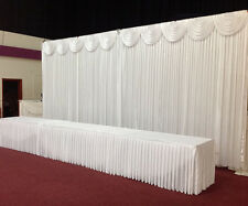3Mx3M White Wedding Backdrop Curtain with Detachable Swag for SALE