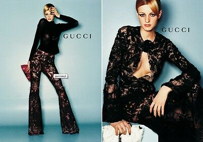 Gucci Sheer Plum Lace Bell Bottom Pants-NWOT-SZ 44-Exquiste & RARE!  COOL!