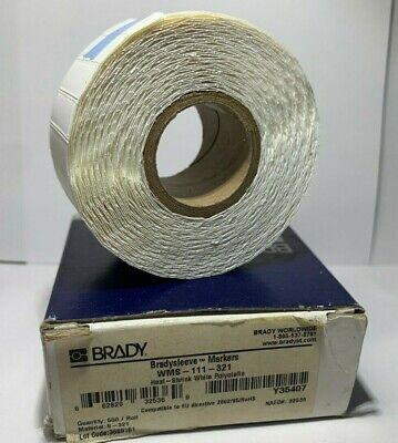 BRADY BRADYSLEEVE WIREMARKER  LABELS WMS-111-321 NEW 500 CT ROLL ID PRO Y35407