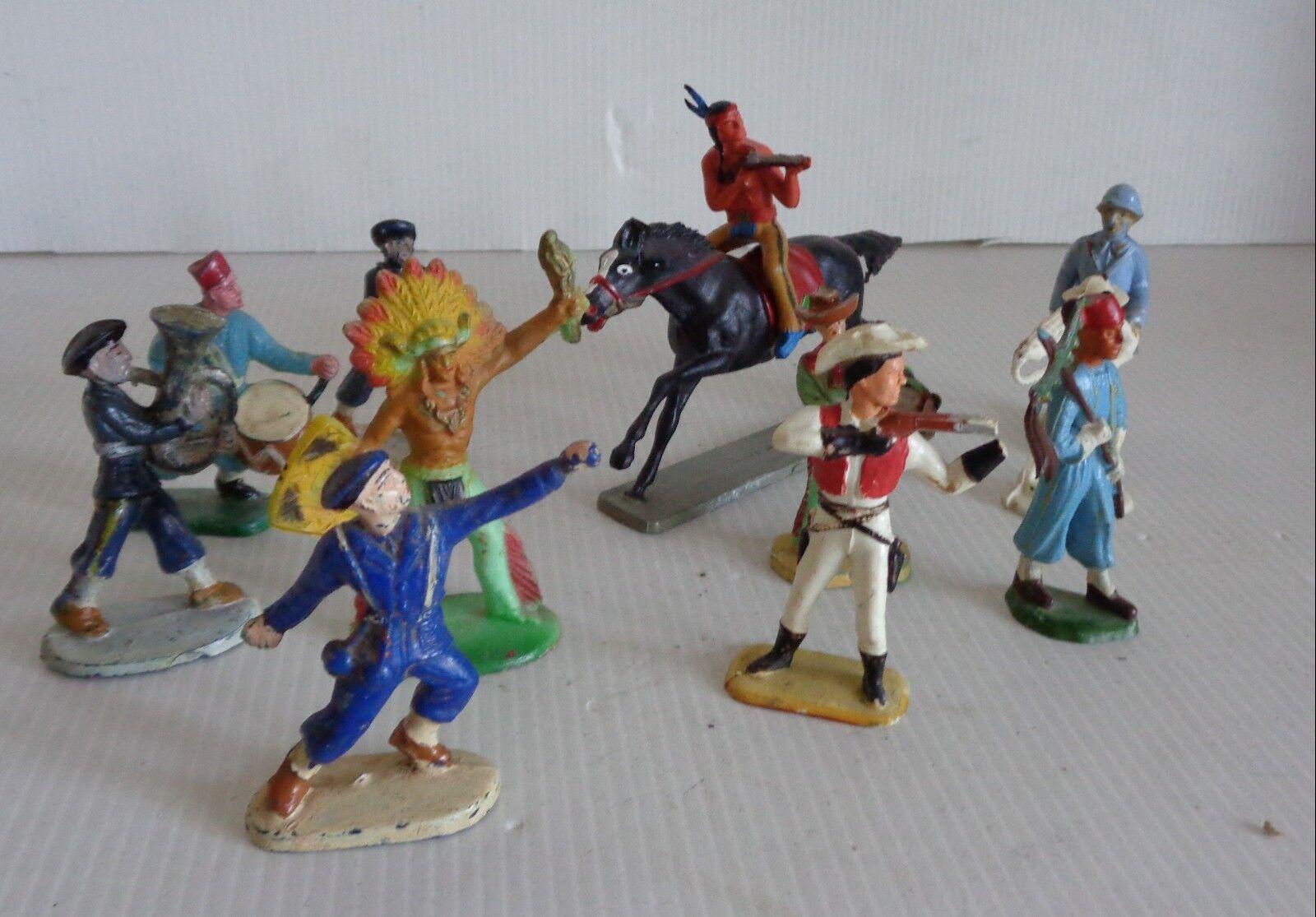Antik STARLUX Los 11 Indian/Pferd/SPAHIES/und andere circa 1960 guter Zustand 1/