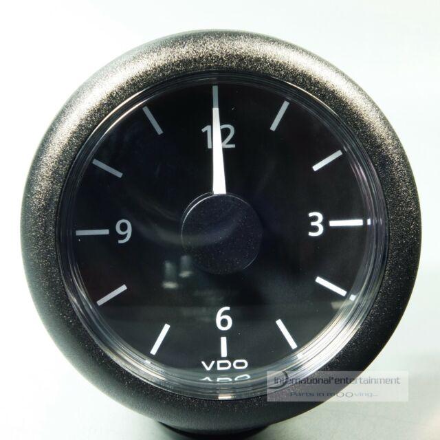 VDO QUARZ UHR MARINE UHR  VIEWLINE  CLOCK  AUTO + MARINE  12V schwarz abgerundet