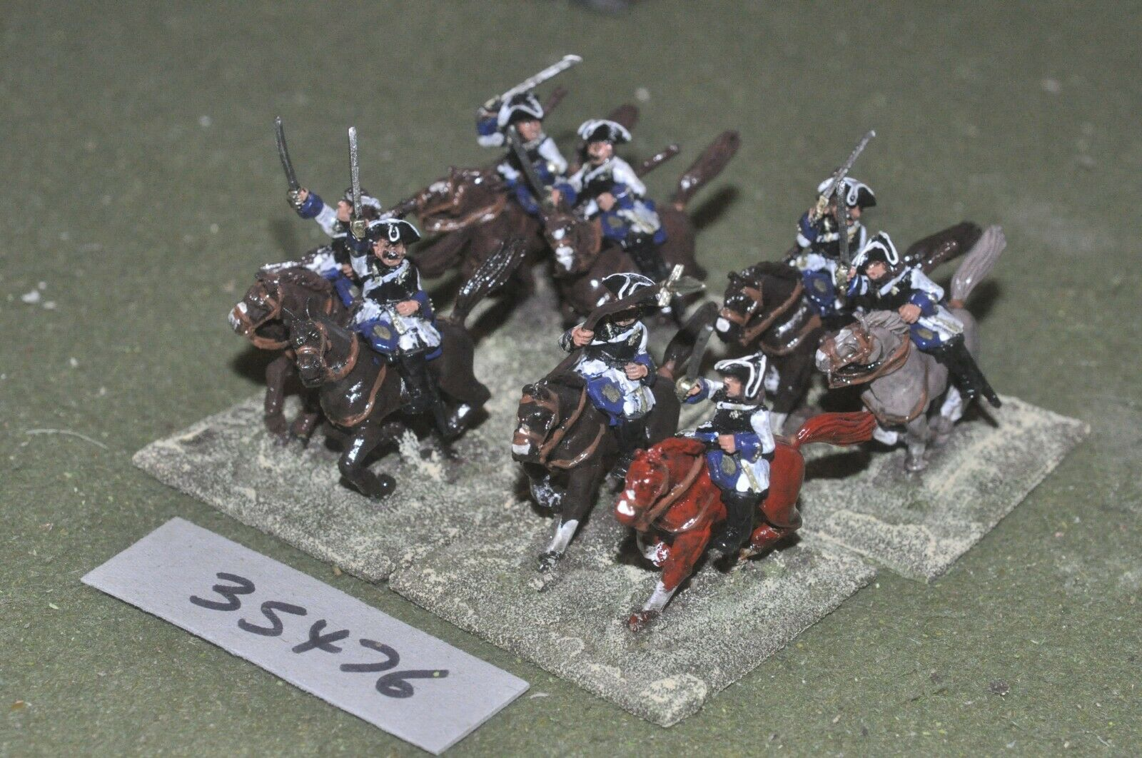 25mm marlburian   french - cuirassiers 8 figures - cav (35476)