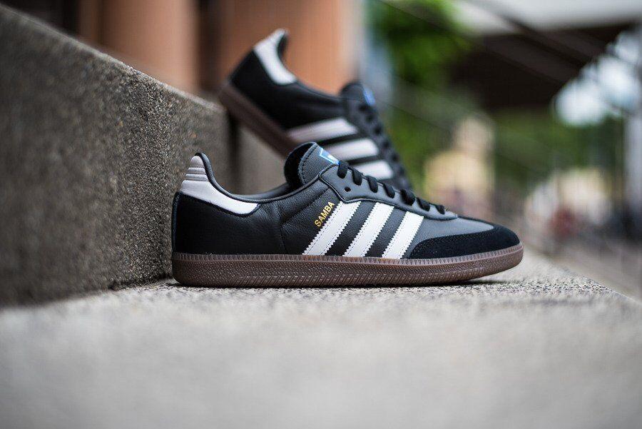 6be6b79e5e8f6 Adidas Originals Samba Classic OG Black White Gum retro New Men shoes B75807