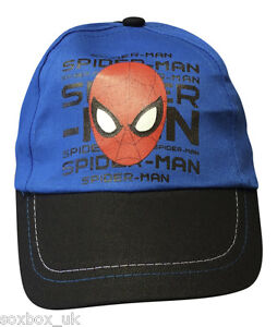 New Official Boys Spiderman Cap Summer Hat Age 3-6 Years 52cm Red//Blue