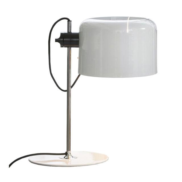 Tavolo Bianco Design.Oluce Coupe Lampada Da Tavolo Bianco Design Joe Colombo 1967