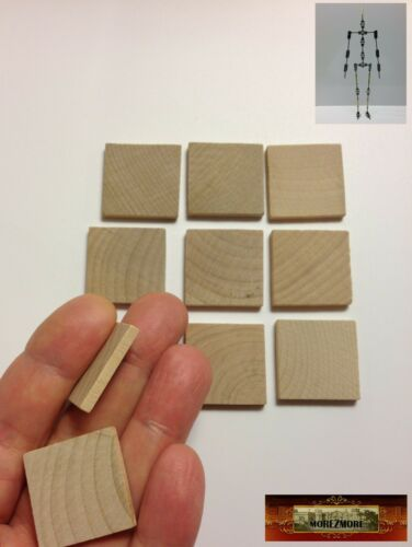 "M00296 MOREZMORE HPA 10 Wood 1/"" Square Tiles Cutouts 1//8/"" Thick Wooden Blank A60"