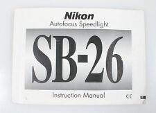 NIKON SPEEDLIGHT SB-26 MANUAL