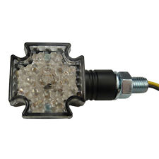 Zwei Motorrad LED Blinker Iron Cross für Chopper Bobber Cruiser Streetfighter