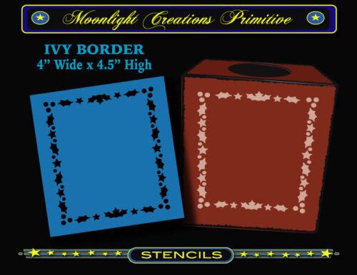 "STENCIL-IVY BORDER~Victorian Classic 1880s Vintage Christmas Border 4.5/"" H x4/"" W"