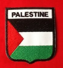 PALESTINE PALESTINIAN NATIONAL FLAG BADGE IRON SEW ON PATCH CREST SHIELD GAZA