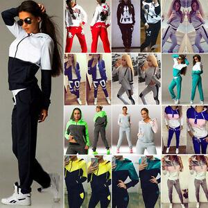 Femmes-2Pcs-Survetement-Sweat-a-capuche-Pull-Pantalon-Vetement-de-sport-Set-Suit