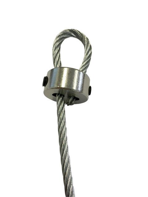 2mm-3mm BZP Brass Steel Wire Rope Loop Clamp Grip DIY Eye Let Allen ...