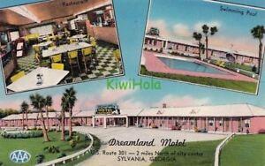 Postcard-Dreamland-Motel-Sylvania-Georgia-GA