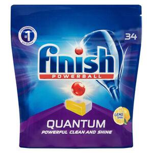 34PK Finish Powerball Quantum Lemon Sparkle Dishwashing Tablets for Dishwasher