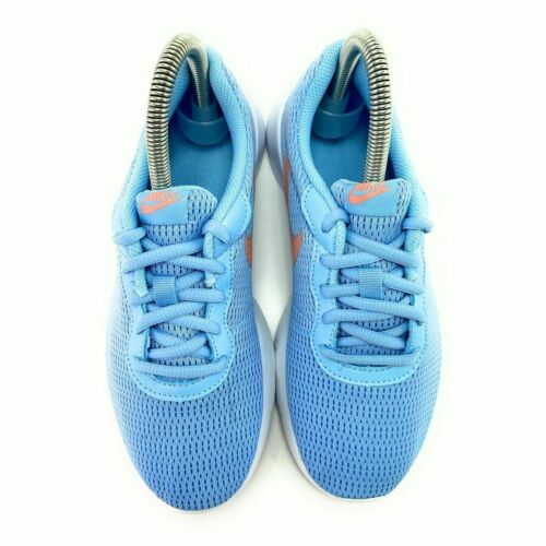 Nike Youth Girl/'s Tanjun Psychic Blue Bleached Coral Running Shoes GS