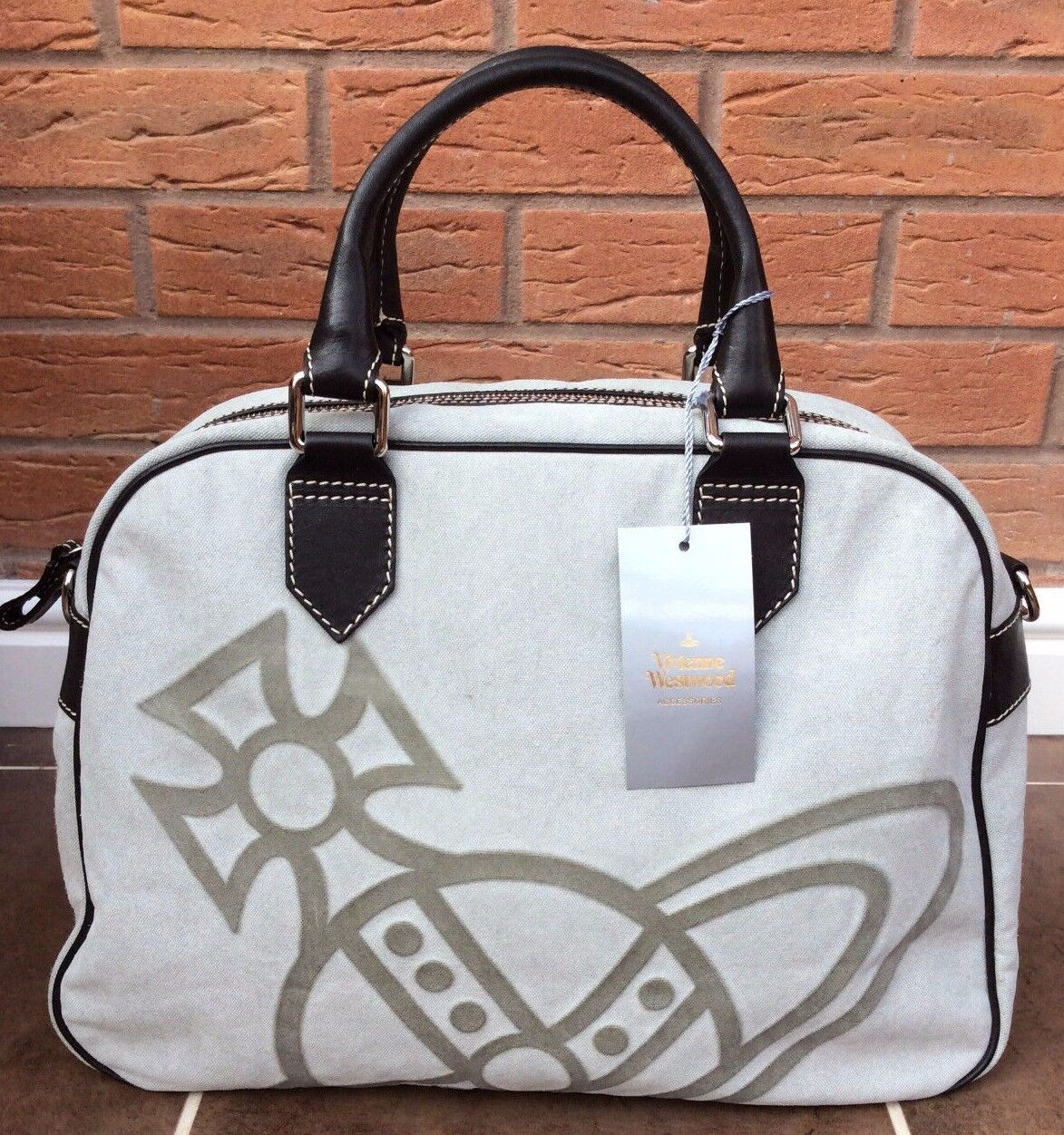 1436d56987 Vivienne Westwood Large Iconic Orb Tote Overnight Bag Retail Made in ...