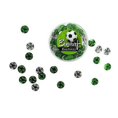 Fußball Metallic Glanz-konfetti ** Fussball Liebe ** Ø 11mm Aufstieg Bundesliga Verschiedene Stile