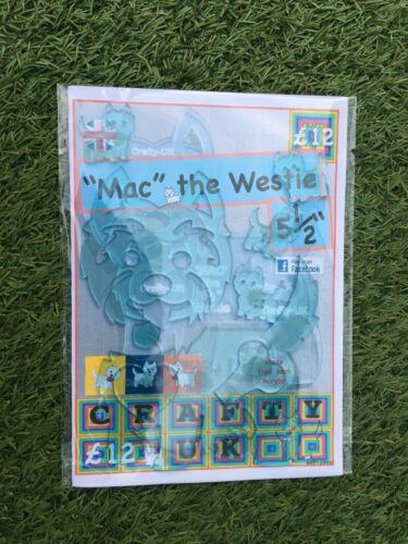"""Apliqué Mack el Westie Perro de 5 1//2/"""""""