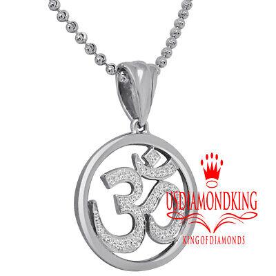 Details about  /Rose Gold Rope Circle 4 Diamonds Hindu Meditation Yoga Om Aum Pendant Necklace