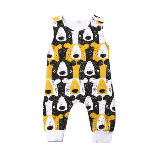 US Stock Newborn Baby Boy Girl Romper Bodysuit Sunsuit Summer Outfit Set Clothes