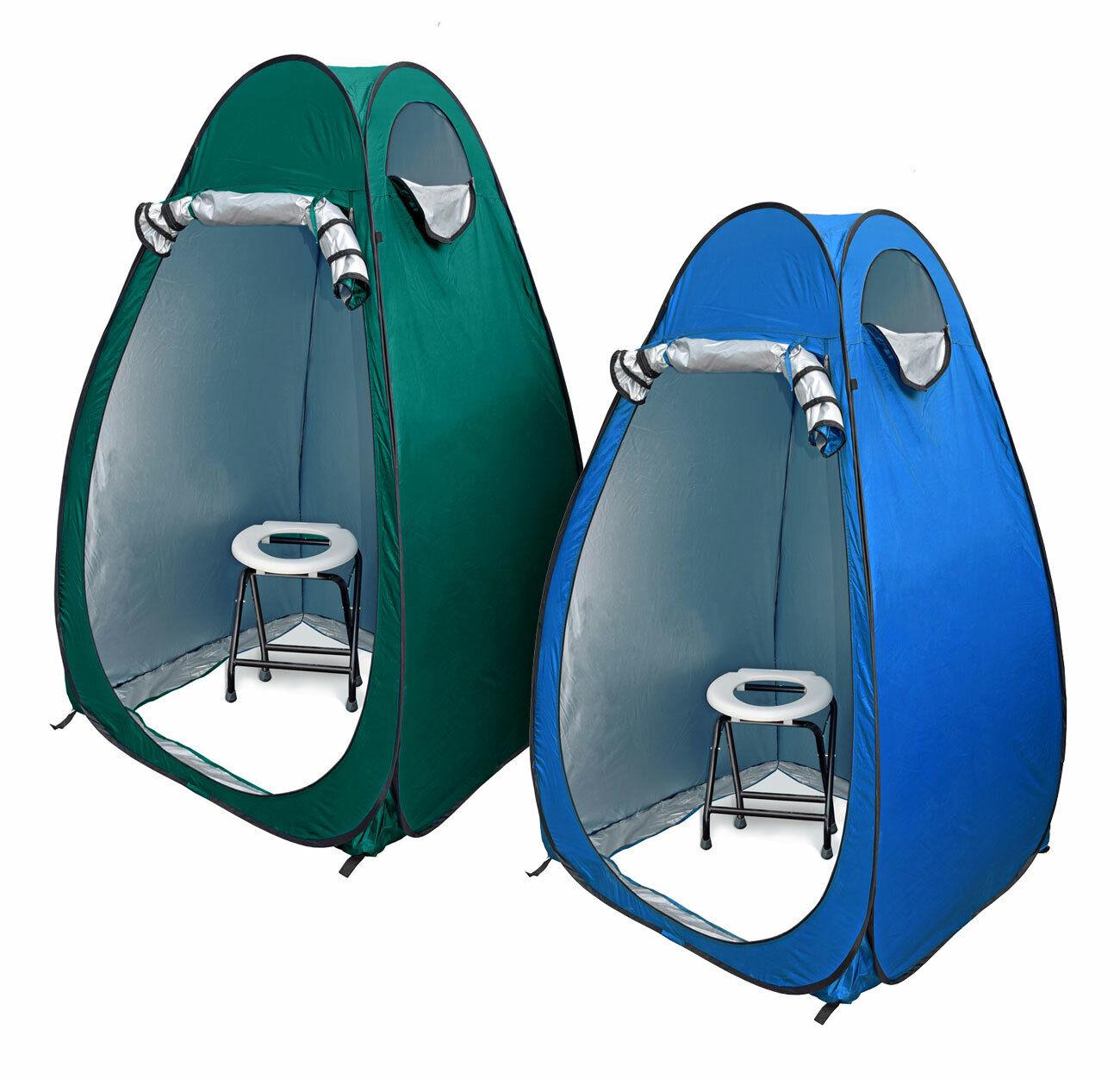 24 Ocean WC borsaNOSet Toilette Pieghevole Bianco con popup Tenda duschzelt nello spogliatoio Tenda