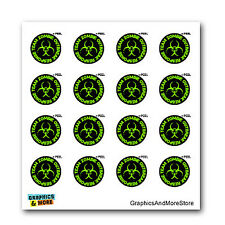 Zombie Outbreak Reponse Team Green - SET of 16 Window Bumper Stickers