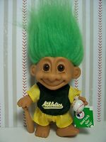 "OAKLAND ATHLETICS GOOD LUCK SPORTS TROLL - 5"" Russ Troll Doll - NEW IN WRAPPER"