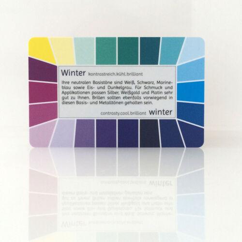 "Farbpass Winter /""Loop/"" Plastikkarte mit 44 Farben"