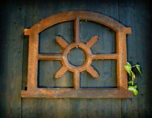 Eisenfenster Stallfenster für Gartenmauer antik Sprossenfenster Fenster Eiche kl