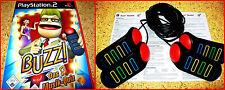 PS2 BUZZ MUSIK QUIZ + PS2/PS3 BUZZER *DEUTSCHE VERSION*KOMPLETT IN DEUTSCH