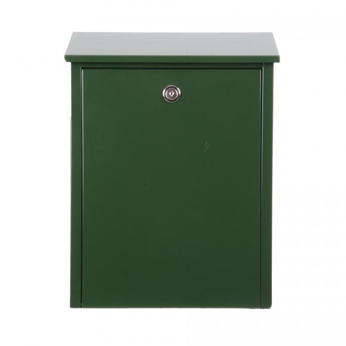 Allux Briefkasten 200GR, Grün   mit Zylinderschloss