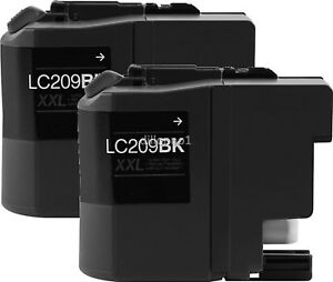 2-Pack-LC209BK-XL-Black-Compatible-Ink-Cartridge-for-Brother-MFC-J5520DW-Printer