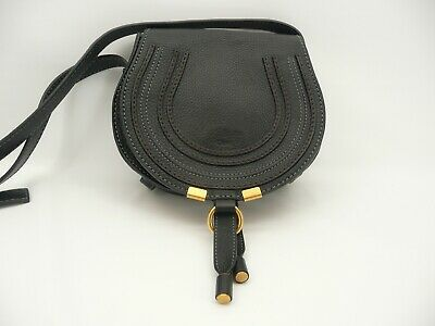 6c3d2ef188e Chloe Mini Marcie Black Leather Crossbody Bag | eBay