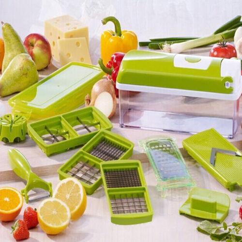 12PCS//Set Super Nicer Grater Vegetable Fruit Peeler Dicer Cutter Chopper Slicer